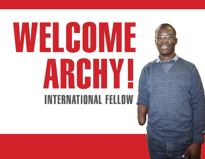 PFP-IDE Fellow Archy Gomba at the Center for Disabilities and Development, Iowa City